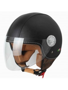 Sway 701DR Open Face İtalyan Stil Deri Siyah
